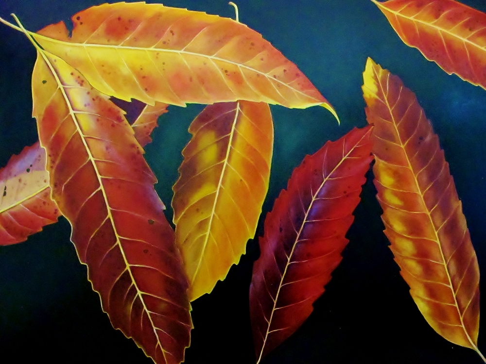 Bronze Loquat , 2014 Oil on canvas, 36 x 48 inches