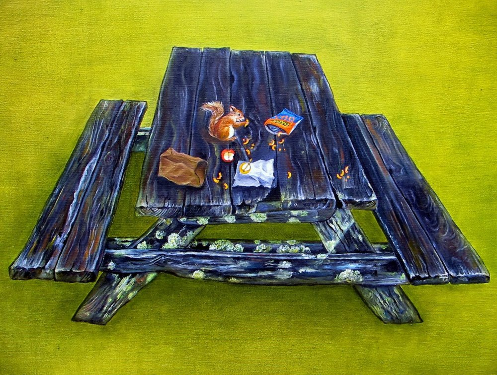 Picnic , 2014 Oil on canvas, 24 x 30 inches