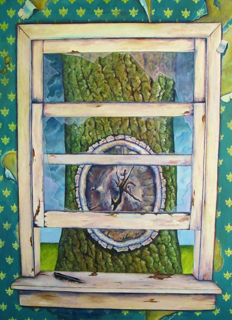 Leviathan Tree , 2013 Oil on canvas, 40 x 30 inches