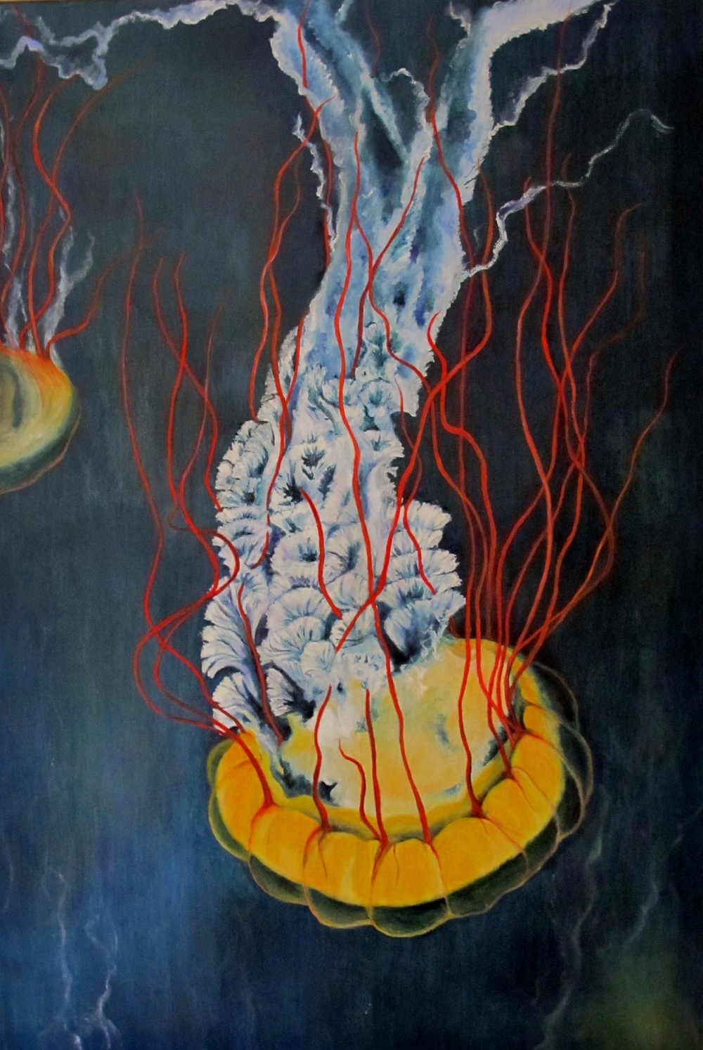 Earl the Cnidaria , 2012 Oil on canvas, 36 x 24 inches