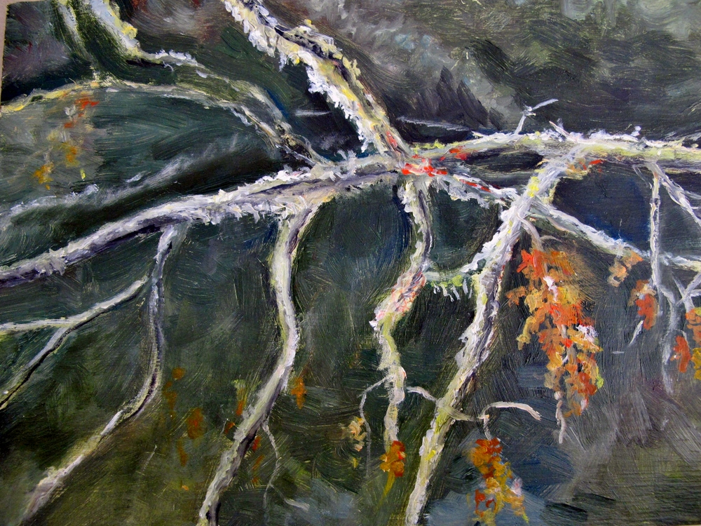 Winter Branches , 2012 Oil on board, 6 x 8 inches