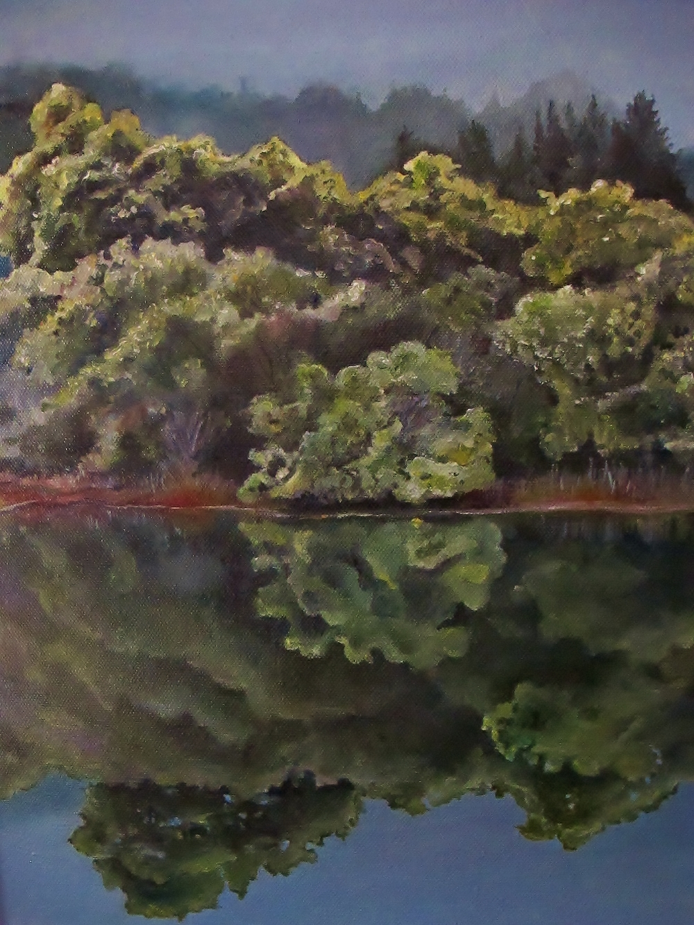 Corte Madera Creek Reflection , 2014 Oil on canvas, 16 x 12 inches