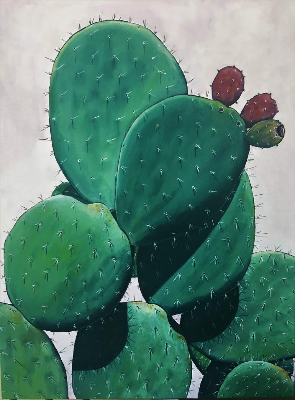 Nopal , 2017 Oil on canvas, 24 x 18 inches