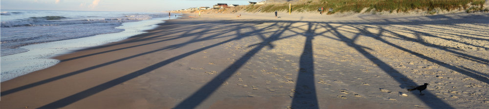 Surf City Pier Shadow, Topsail Island, NC, August 2016