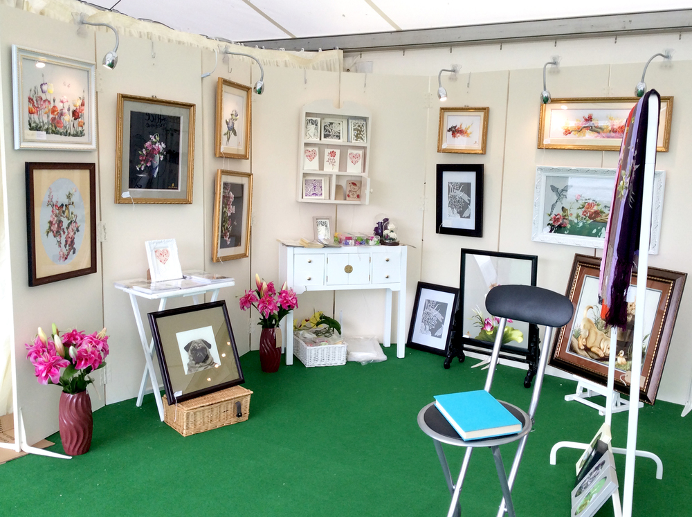 Chau Art's stand at the Malvern Spring Show 2015.