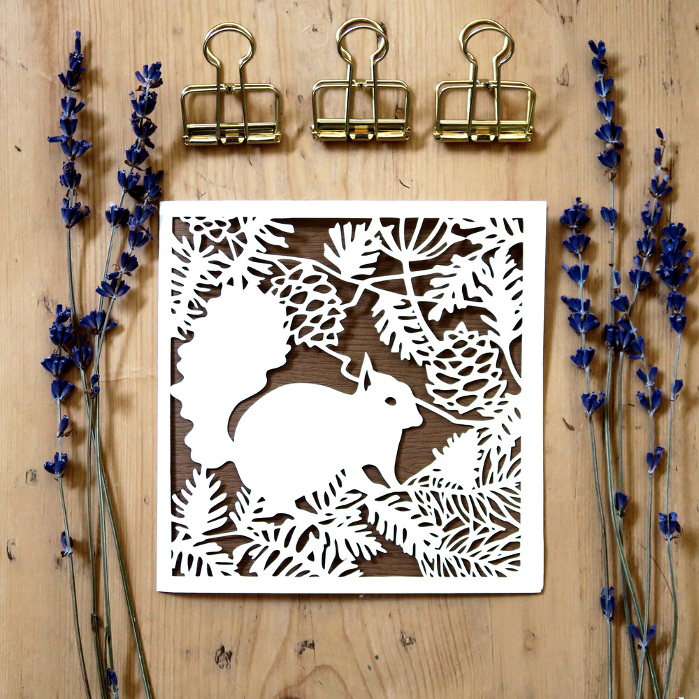 Chau Art lasercut greeting card