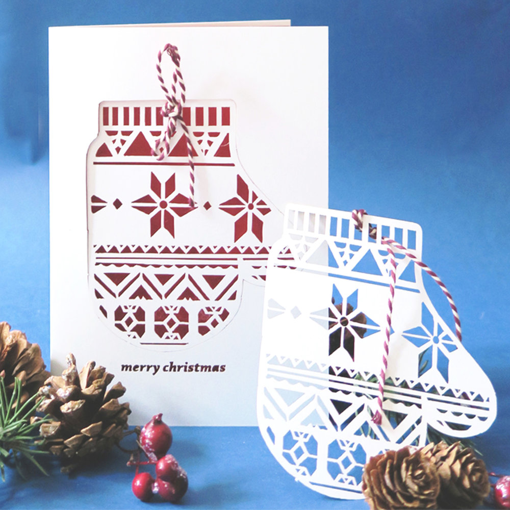 chau art papercut christmas card