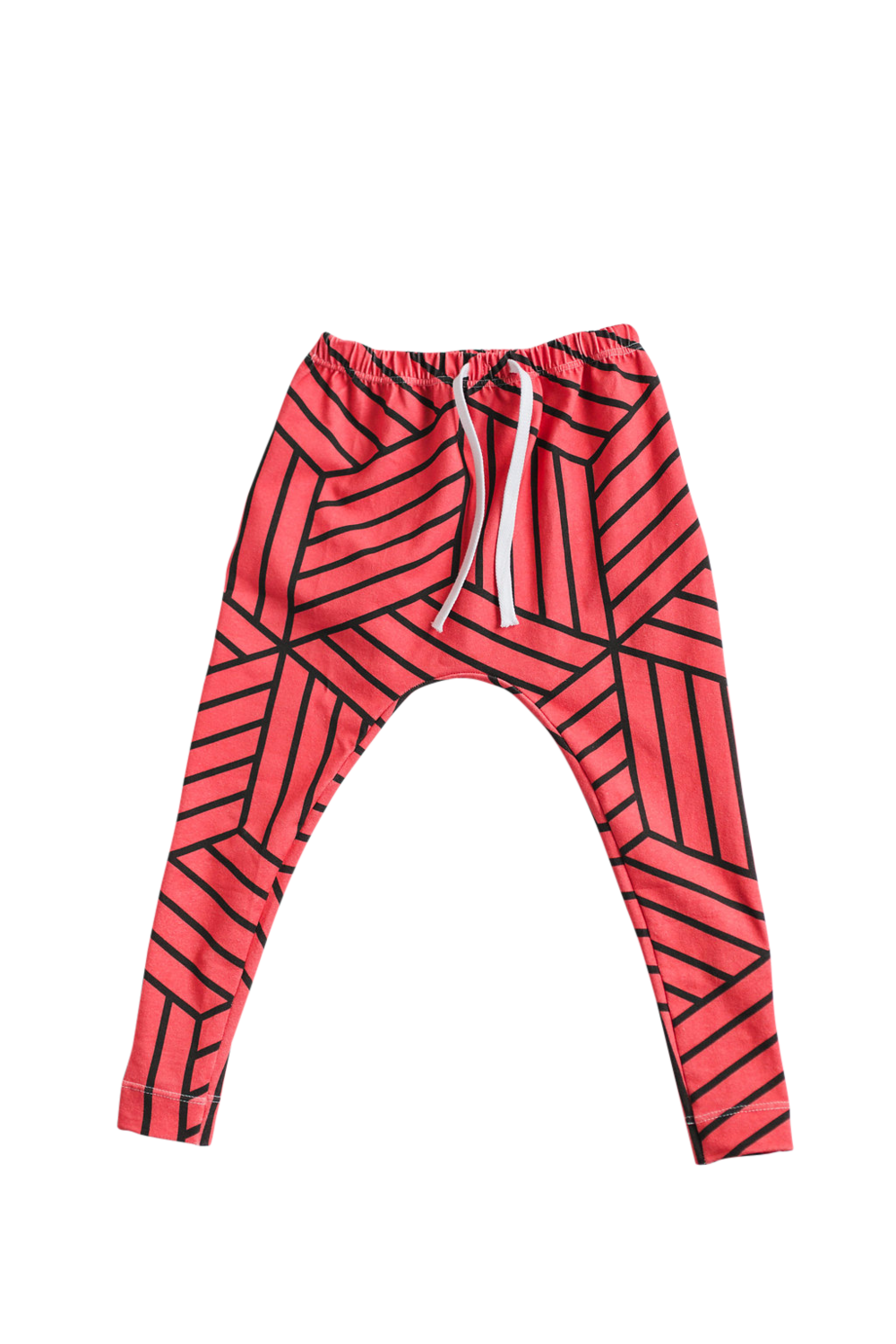 Lot801 athleisure baby kids harem leggings blood orange