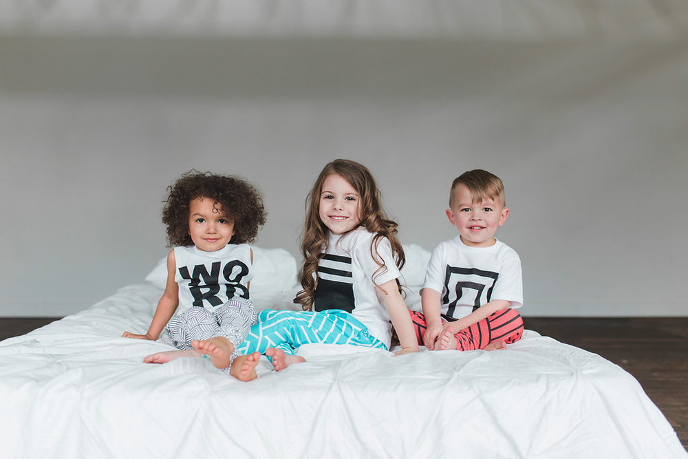 Lot801 athleisure baby kids harem leggings graphic tee