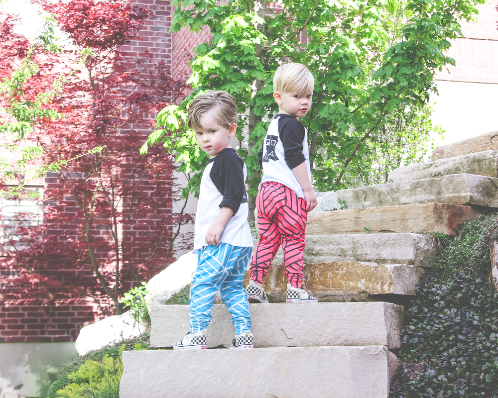 twin baby boy style - harem leggings