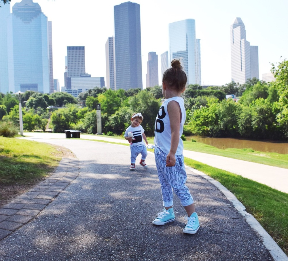 baby girl summer style monochrome joggers