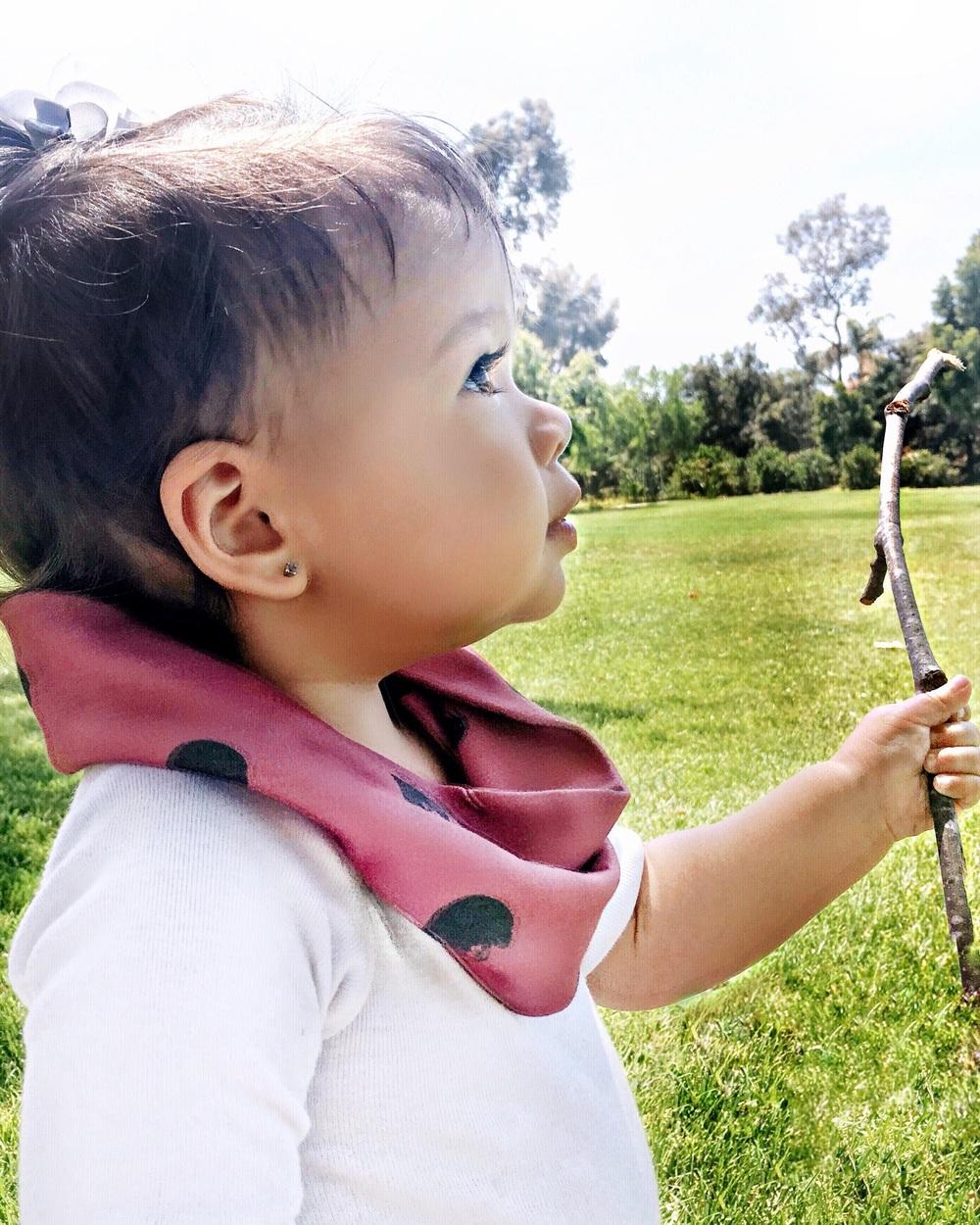 Maroon baby / toddler circle scarf
