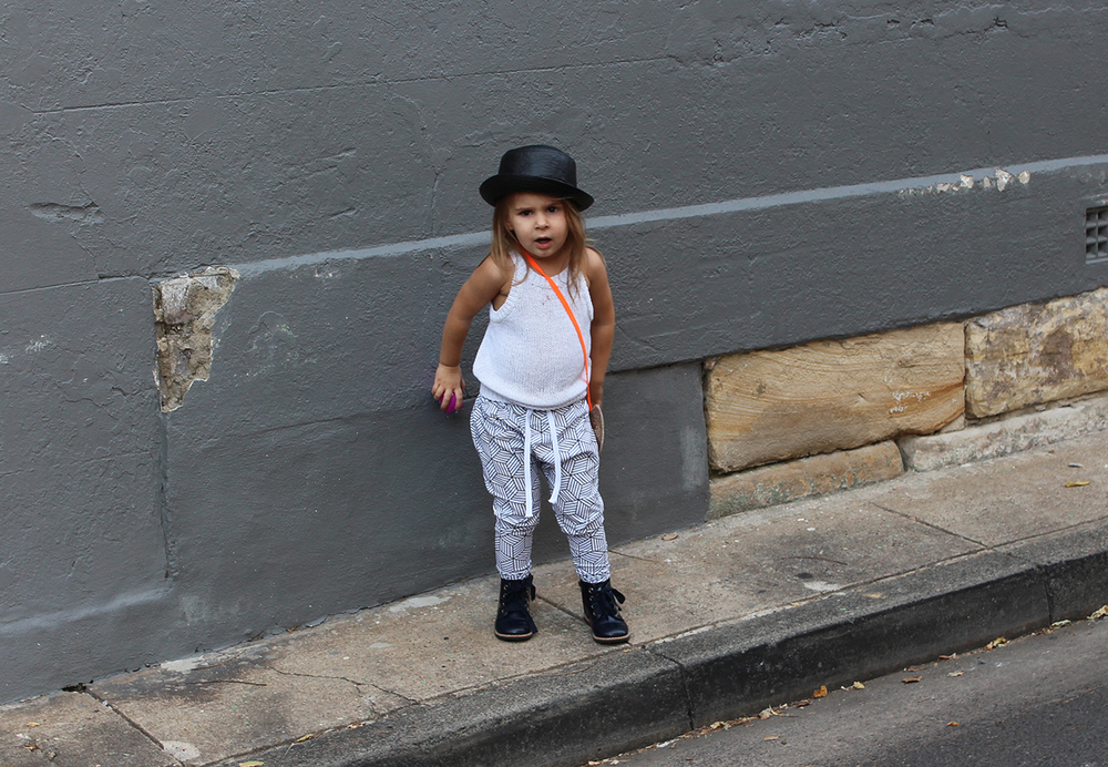 Toddler Outfit: Monochrome joggers street style