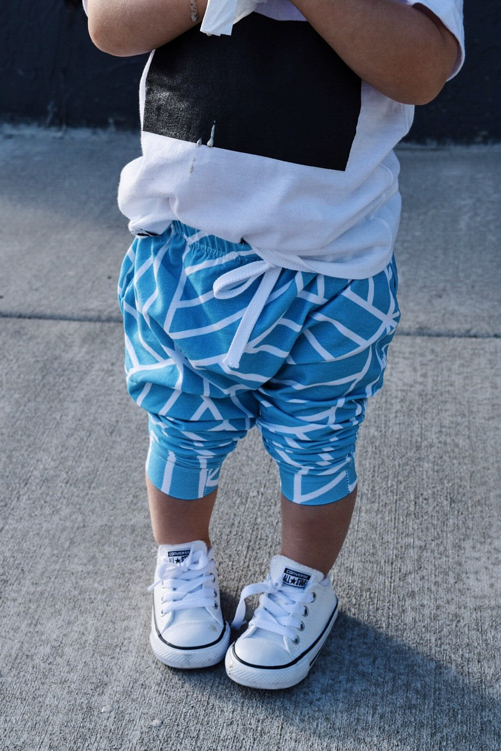 Lot801 baby toddler summer style. ocean blue joggers and graphic tee.
