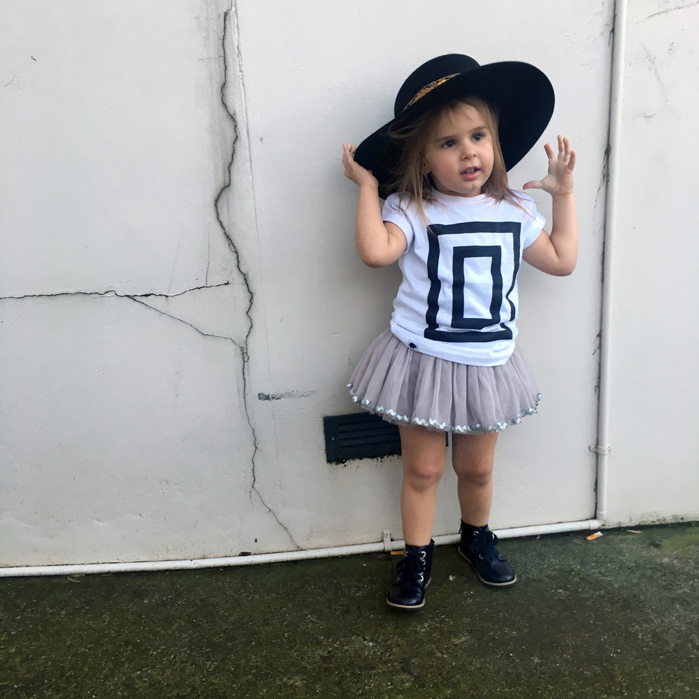 Lot801 monochrome toddler graphic tee