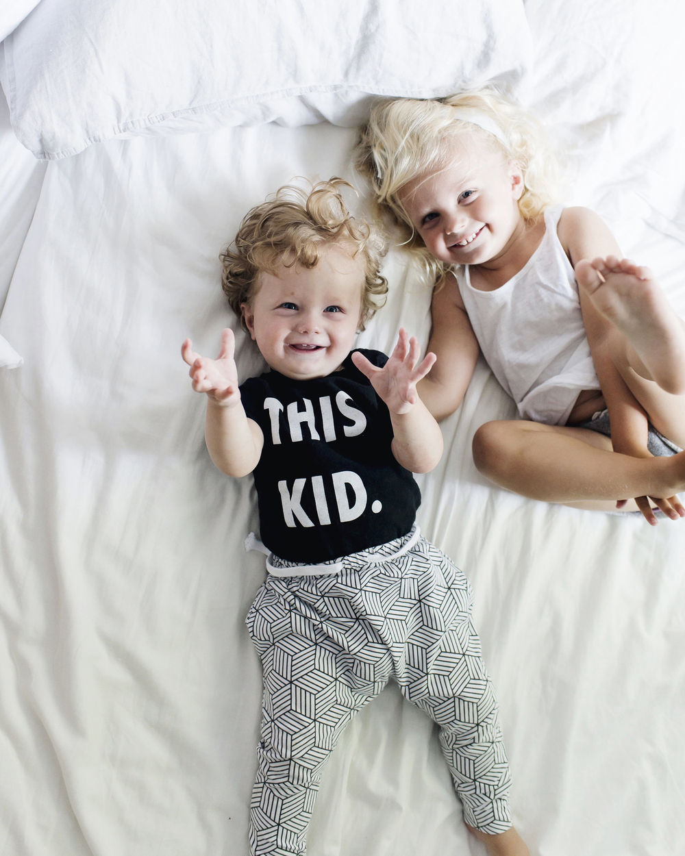 Lot801 kids wear. Monochrome harem leggings and joggers