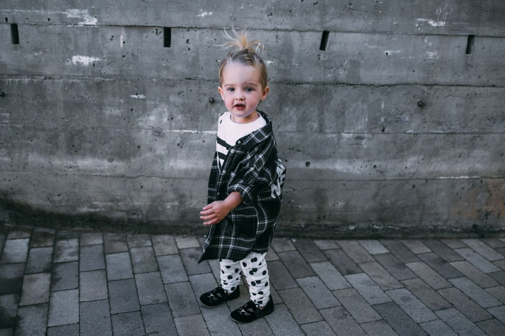 toddler baby girl street style wih polka dot suspenders and graphic tee.JPG