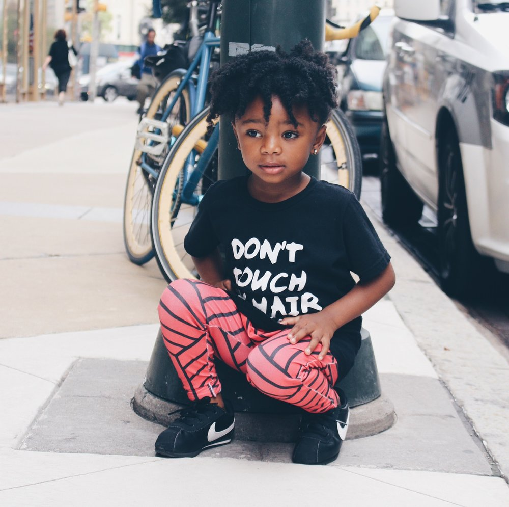 baby girl street style - blood orange joggers