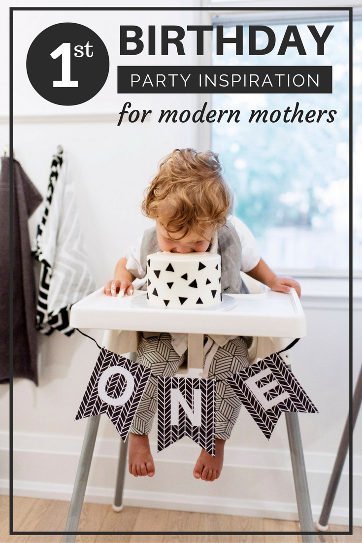first birthday party inspiration for the modern kid lot801 harem leggings