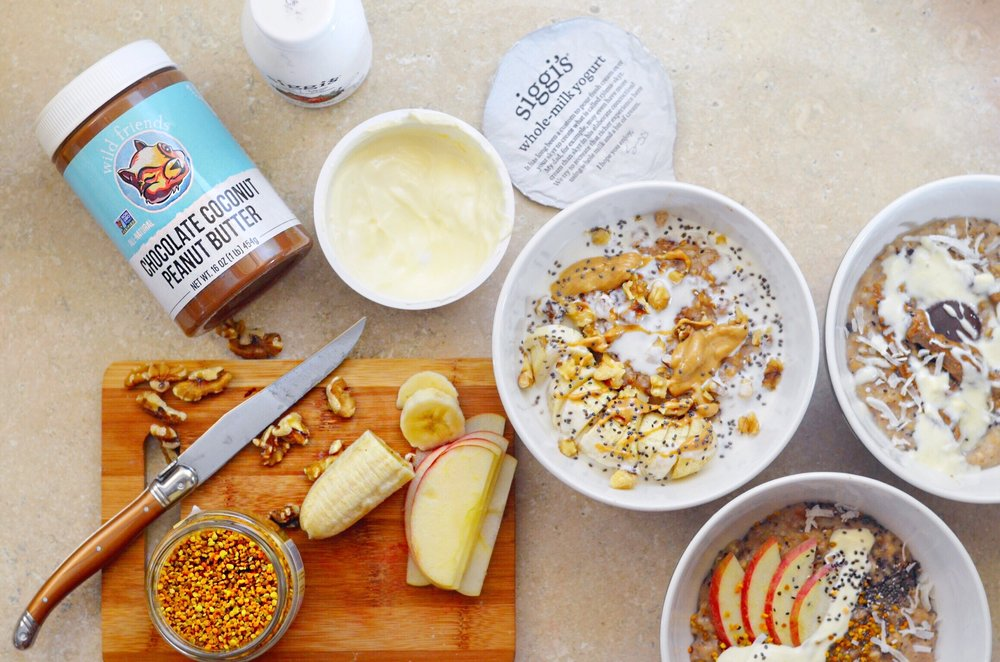 The easiest overnight steel cut oats sure to please every member of your house: even the pickiest of toddler! Best of all, it can be made dairy free with almond milk or coconut water! Included are 7 different ways to shake up your boring oatmeal routine with options for the health nut, chocolate lover, and even a Peanut Butter Bacon option! || LOT801