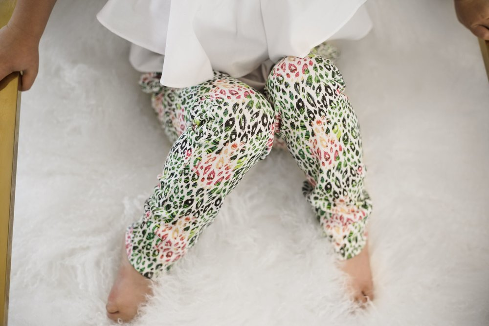 Lot801 baby and toddler tropical cheetah pants