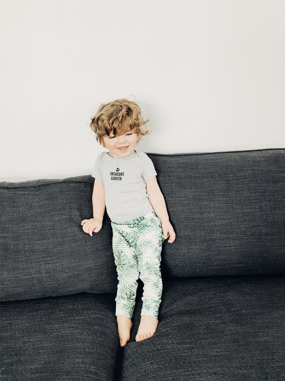 Lot801 baby and toddler organic palms joggers