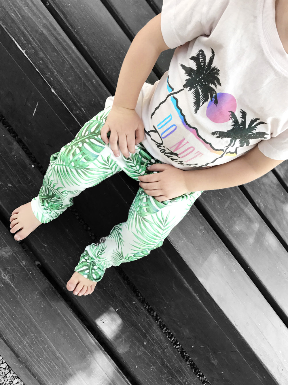 Lot801 baby and toddler Palms Jogger organic pants