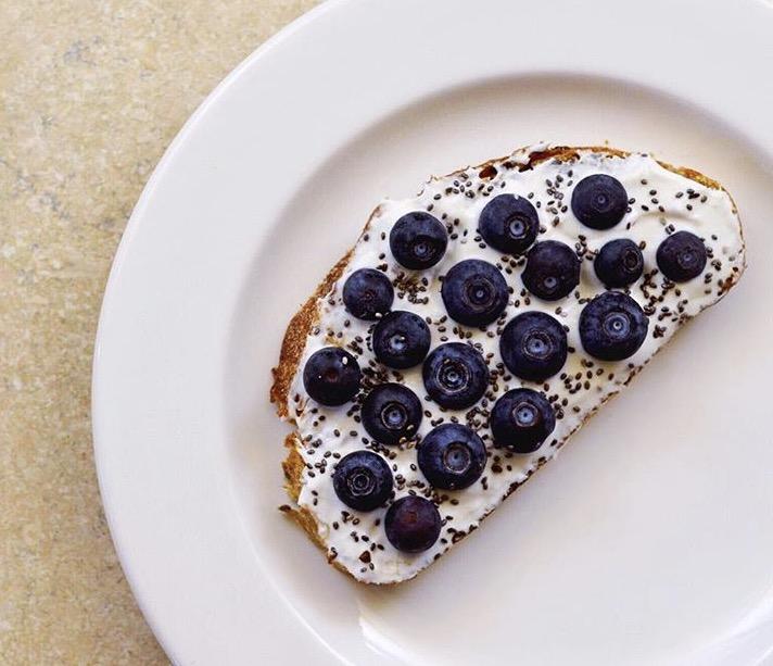 blueberry yogurt toast recipe