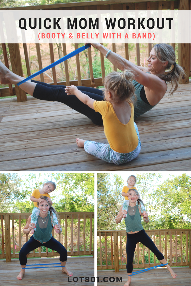 booty and belly with bands workout for busy moms