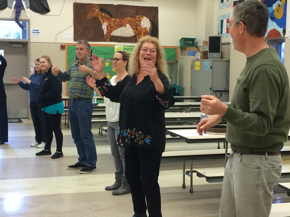 Paula Bliss Facilitates a professional development workshop at ann SOldo elementary school, 2015