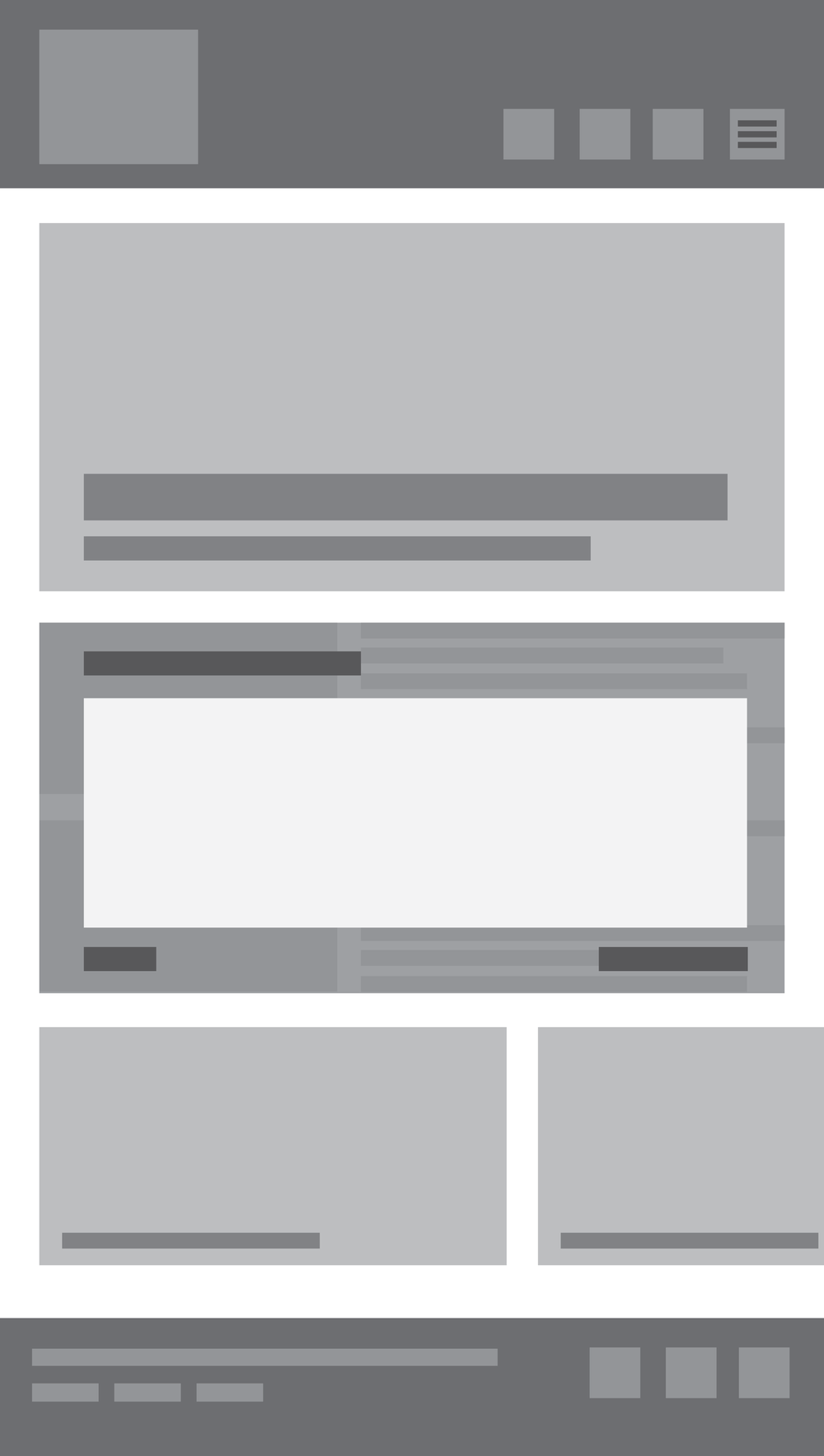 Mobile home page modal