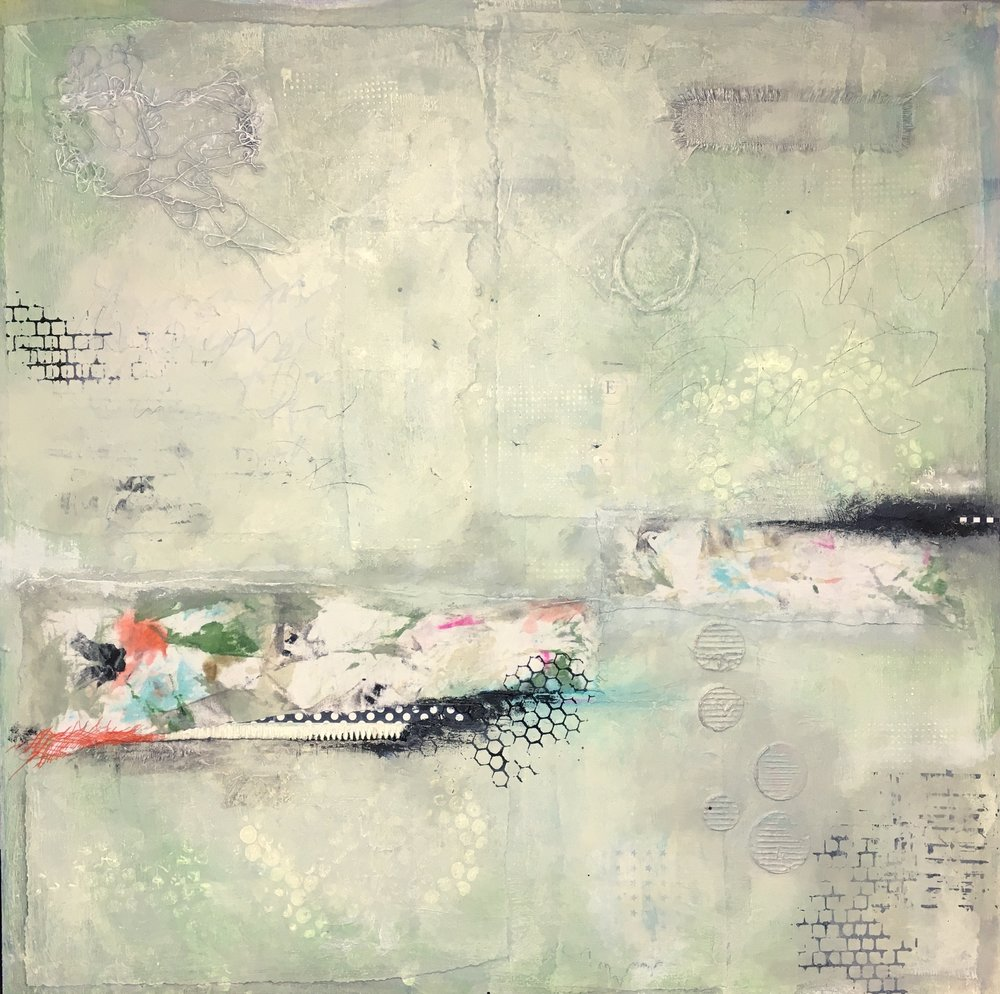 "Skin Deep I Mixed Media on wood panel I 24"" x 24"" I $875"