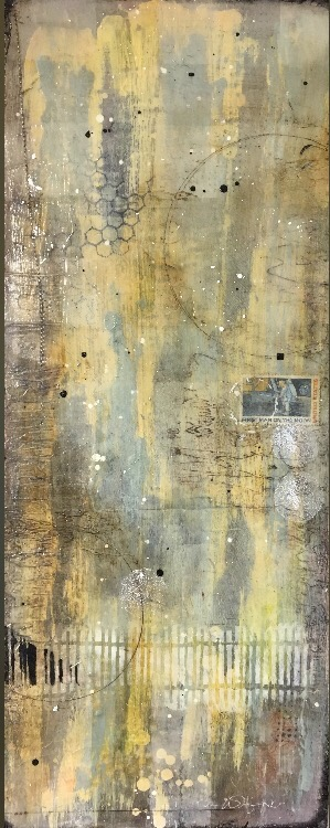 Moonwalk I Mixed Media on panel I 10 x 22 I $400