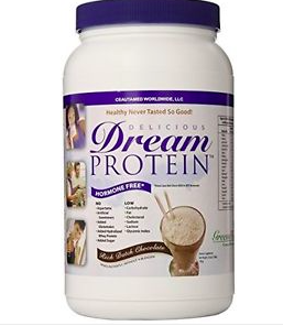 GREENS DREAM PROTEIN (WHEY PROTEIN POWDER)RICH DUTCH CHOCOLATE OR VANILLA 720 grams  Dream Protein is a proprietary hormone free, low temperature whey protein isolate, from New Zealand. Does not contain: artificial sweeteners, hydrolyzed whey protein or added sugar. It is low in carbohydrates, fat, cholesterol and has a low glycemic index. - $65