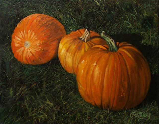 Have a very #HappyHalloween everyone! #tomfurey #tomfureyartist #fineart #oils #oilpainting #buckscounty #buckscountyartist #buckscountyart #pumpkins