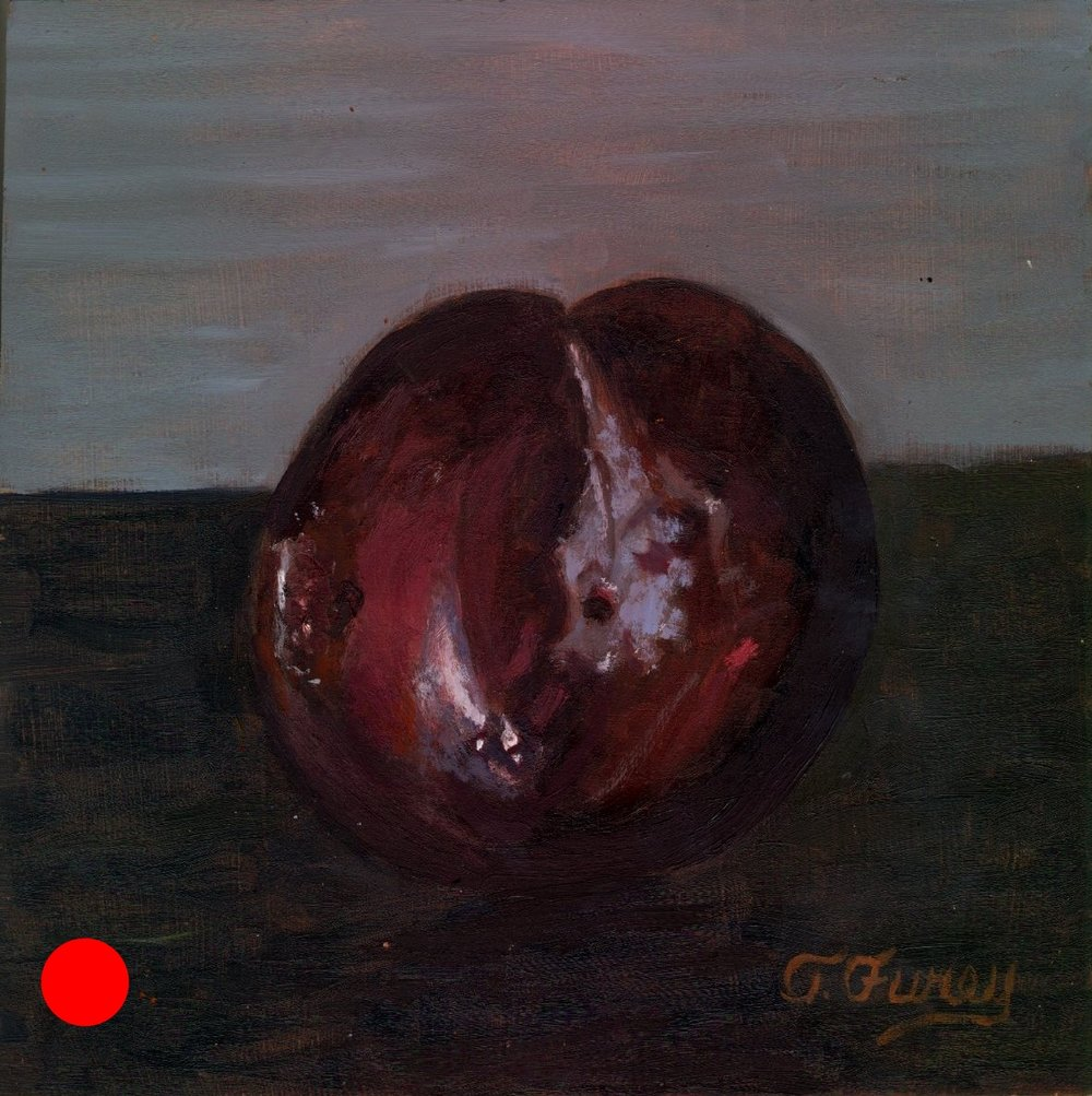 "PLUM FINAL, Alla Prima Oil Painting on Board, 8"" x 8""."