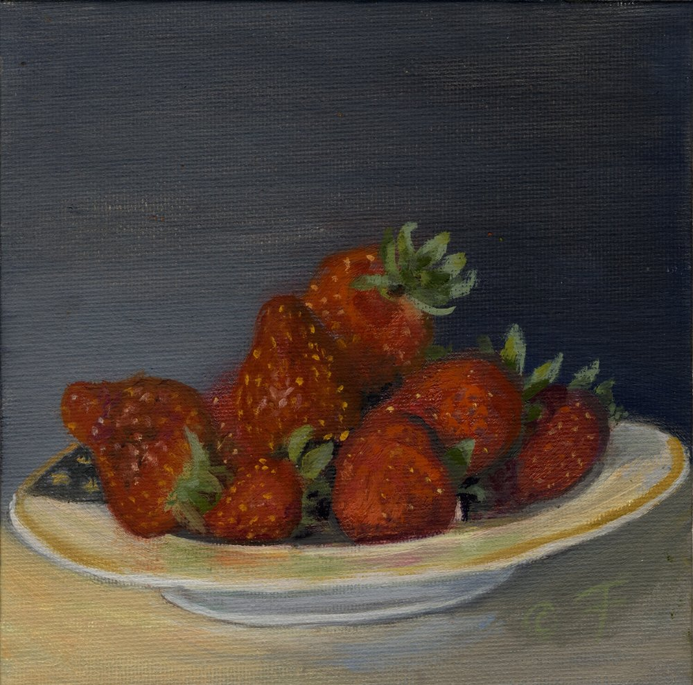 Strawberries in Shallow Bowl