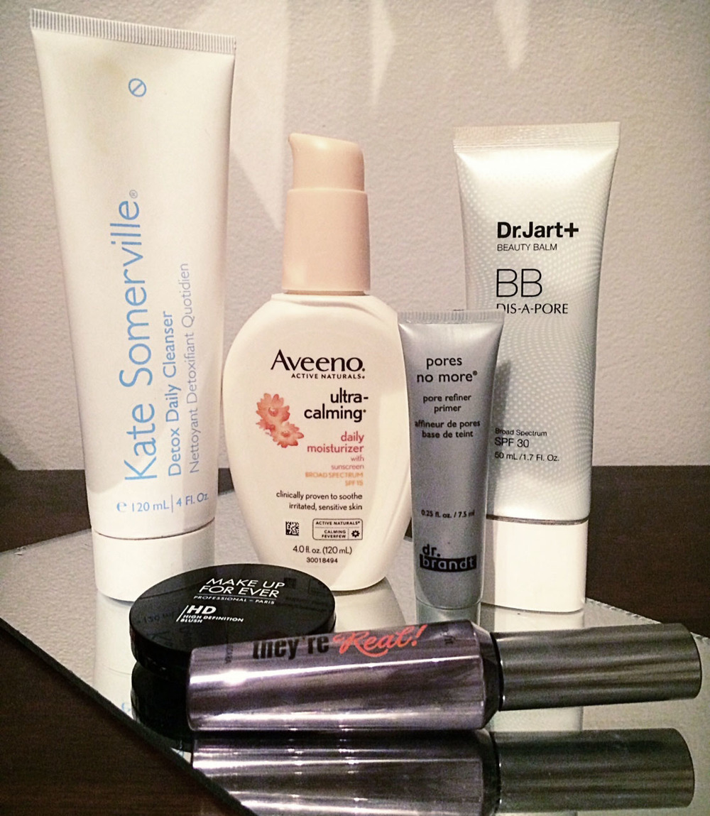 Some of my can't-live-without skin care and make-up products.