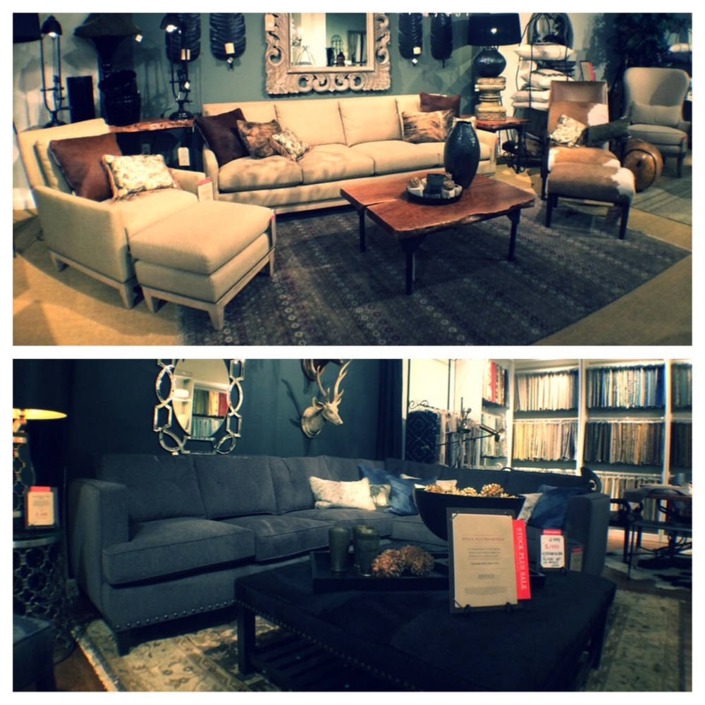 The two final sofa options, the Dante and the Flanders.