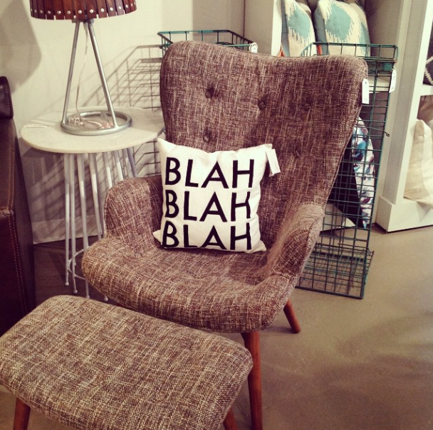 A great chair and pillow from Objects for the Home. A must stop shop if you're in Columbus!
