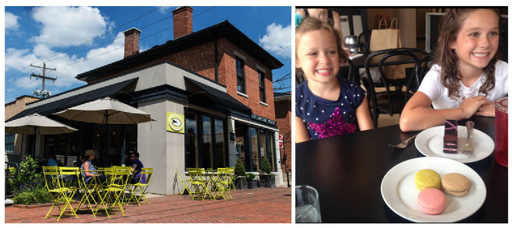 The Pistacia Vera shop in the German Village- a great place to stop on a warm spring day! Here Annie shares delicious treats at Pistacia Vera with two of her favorite gals- her lovely nieces!