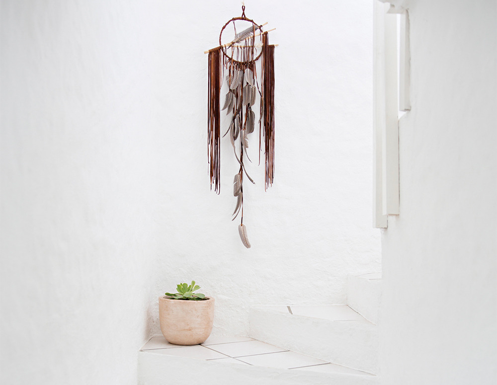 My inspiration: a gorgeous dreamcatcher from Electric Love in a beautiful home in Mexico.