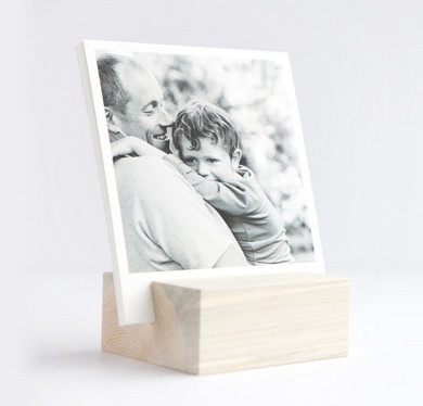 Simple and beautiful wood block + photo prints from Artifact Uprising is the perfect personalized gift for Dad!