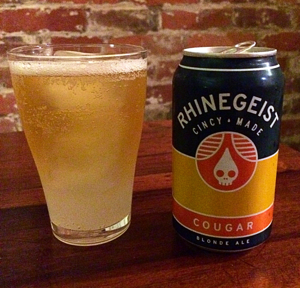 For my second sampling I mixed Rhinegeist's Cougar Blonde Ale with Squirt and this was very good!!