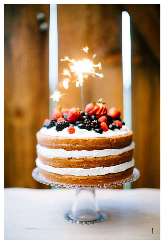 1. Naked Sparkler Cake