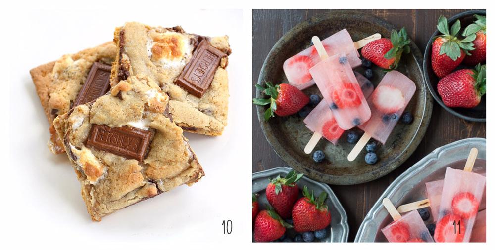 10. S'more Cookies 11. Berry Lemonade Popsicles