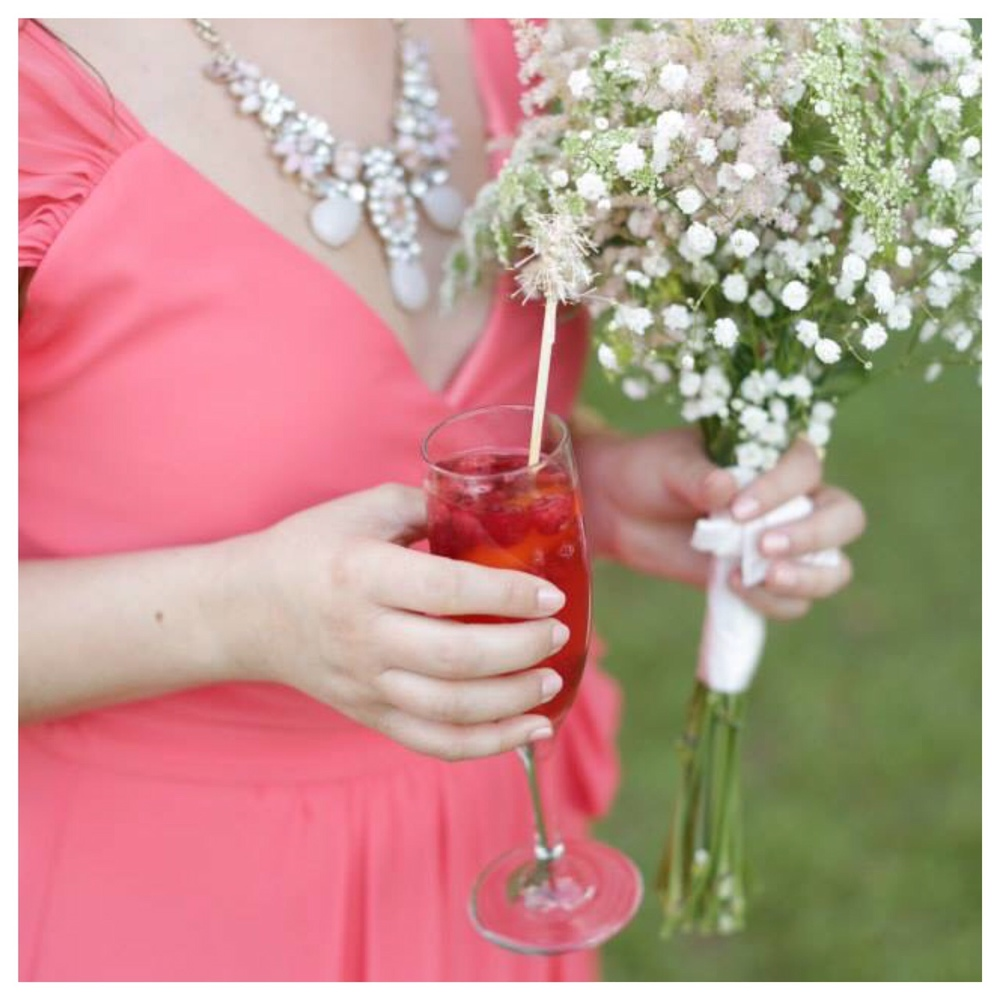 Carly enjoying white sangria at my wedding last year! image by Bella Grace Studios