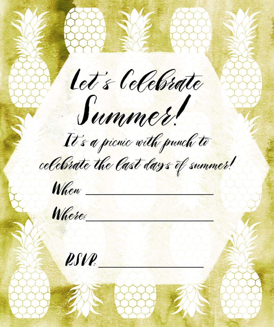 Our festive Mishaps and Mimosa's Labor Day party invite- created for you to use too!