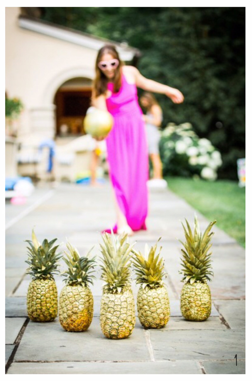 1. Pineapple bowling, why not?