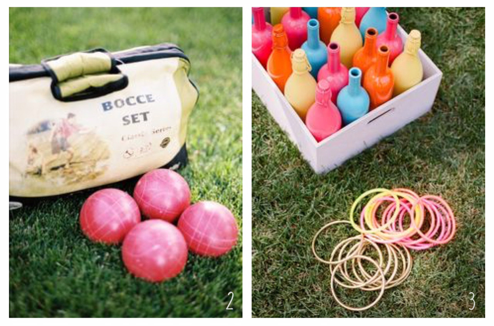2. Classic Bocce Ball, 3. Ring Toss